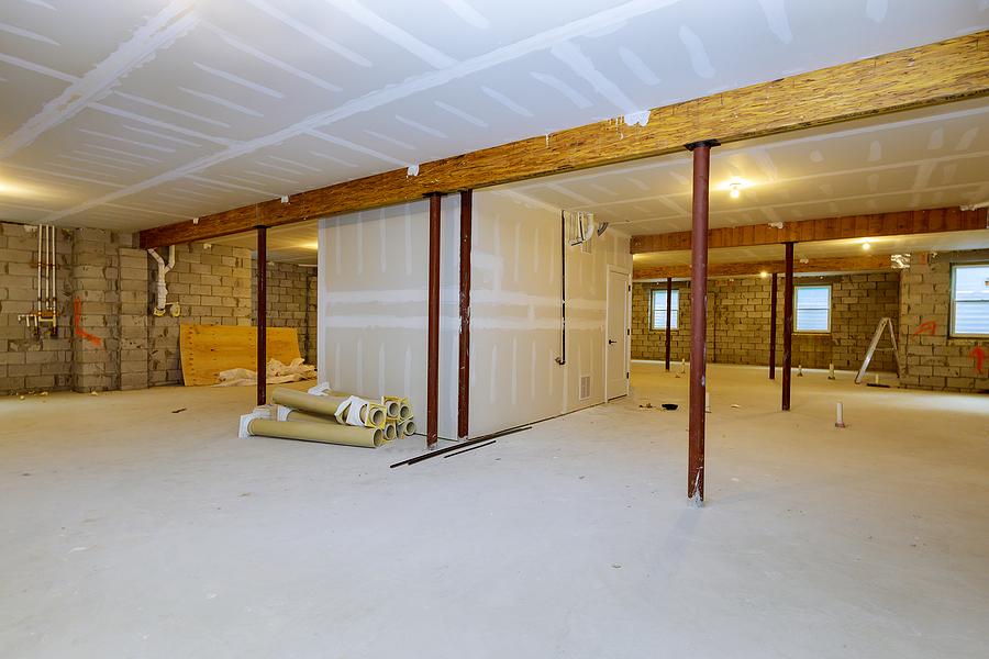 under working basement framing