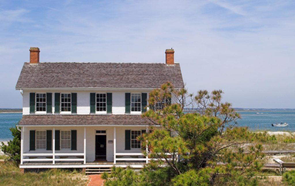 a house beside the sea shore